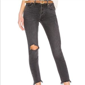 Levis 501 stretch skinny well worn black